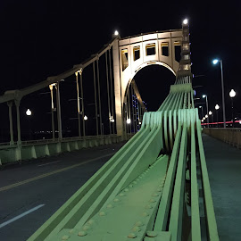 Untitled by Abhinav Garg - Buildings & Architecture Bridges & Suspended Structures ( pittsburgh, night, bridge, downtown )