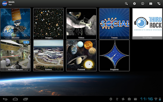 Screenshot of NASA App