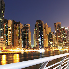 Skyscraper View from Dubai Marine by Adarsha Ramesh - City,  Street & Park  Street Scenes