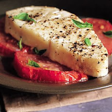 Halibut Steaks au Poivre