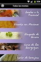 Screenshot of iCocinar Cocina Francesa