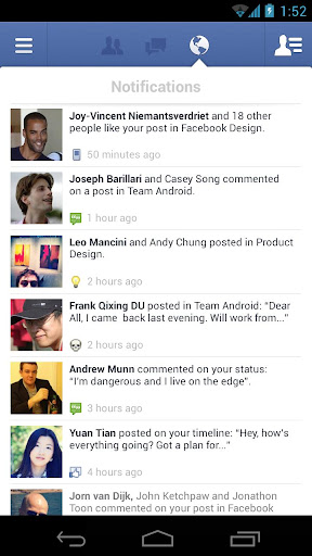 facebook for android screenshot
