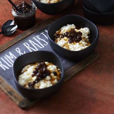 Chilled Rum & Raisin Rice Pudding