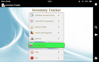 Screenshot of Inventory Tracker