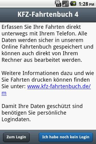 KFZ-Fahrtenbuch Mobile