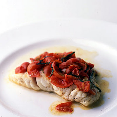 Grouper with Tomato and Basil