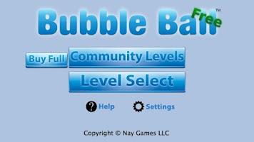 Screenshot of Bubble Ball Free