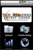 Screenshot of NEWHCU Mobile Banking