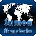 Samoa flag clocks icon