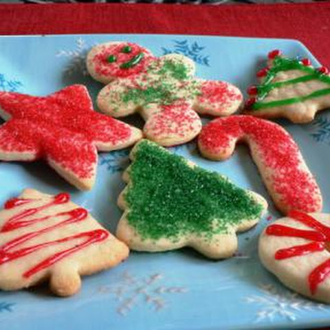 Low Fat Holiday Sugar Cookies