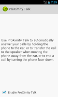 Screenshot of ProXimity Talk Trial