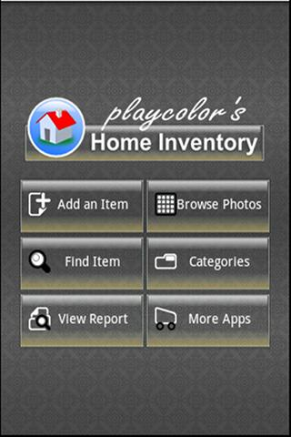 Playcolors home inventory