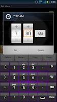 Screenshot of Sleek Purple Keyboard Skin