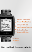 Screenshot of Notifier Pebble