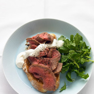 Open-Face Roast Beef Sandwich