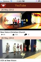 Screenshot of New Vision Church
