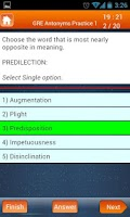 Screenshot of GRE Verbal Reasoning Quiz