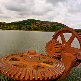 The gears that open the dam by Kathy Suttles - Artistic Objects Other Objects