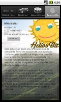 Screenshot of Matrículas