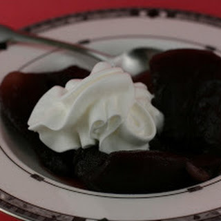 Red Wine Poached Pears Slow Cooker