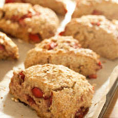 Strawberry Oat Scones