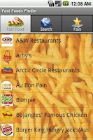 Screenshot of Fast Food Finder