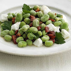 Warm Broad Bean, Pancetta & Goat's Cheese Salad