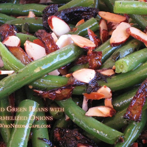 Almond Green Beans with Caramelized Onions