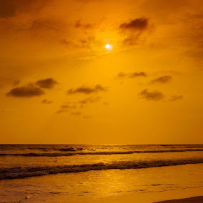 Sunset by Subodh Kesarkar - Landscapes Beaches ( sunset, cloud, beach, landscape, walk )