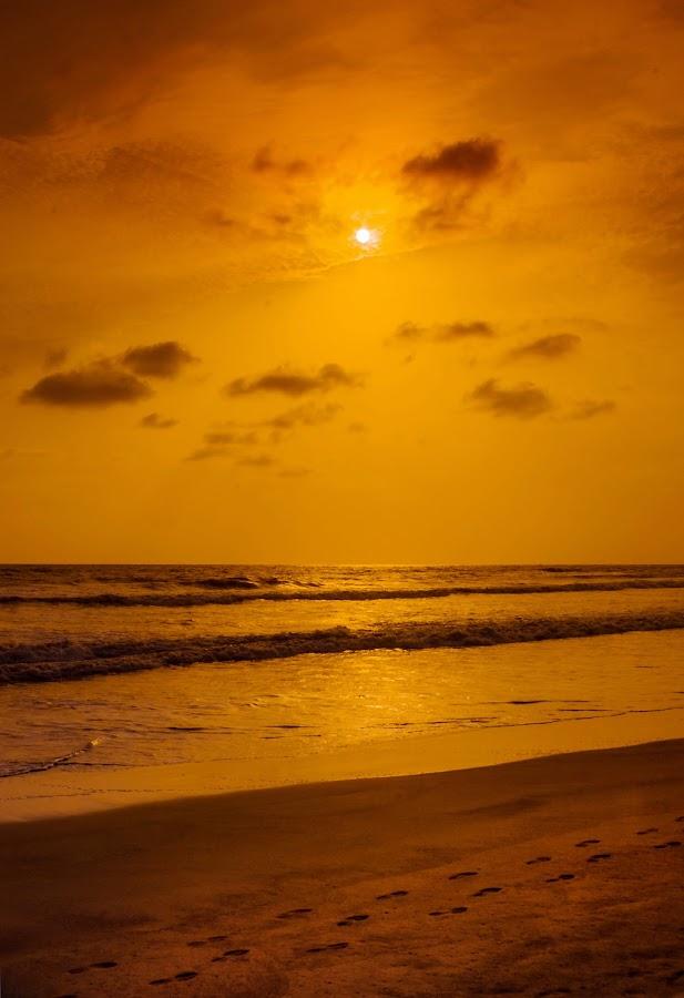 Sunset by Subodh Kesarkar - Landscapes Beaches ( sunset, cloud, beach, landscape, walk )