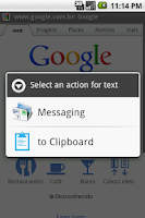 Screenshot of Android Clipboard