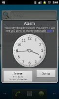 Screenshot of Charity Alarm - Pay to Snooze