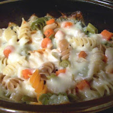 Simple Pasta and Cheese Bake With Veggies for Two