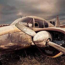 ancient apache warplane by TJ Vance - Transportation Airplanes