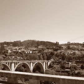 Ponte Entre Os Rios by Lia Ribeiro - Digital Art Places