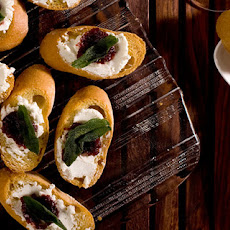 Fig Jam and Goat Cheese Crostini Recipe