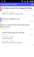 Screenshot of TodoToday for Voo2do