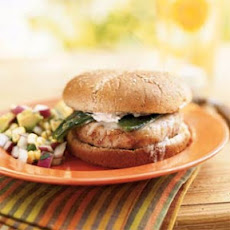 Hominy-Pinto Burgers with Roasted Poblano Chiles
