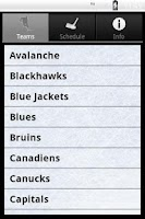 Screenshot of Hockey Radio