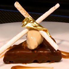 Chestnut and Whiskey Mousse with Chocolate and Walnut Biscuit & Chocolate Sauce