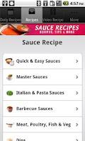 Screenshot of Sauce Recipes!