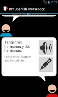 Screenshot of DIY Spanish Phrasebook