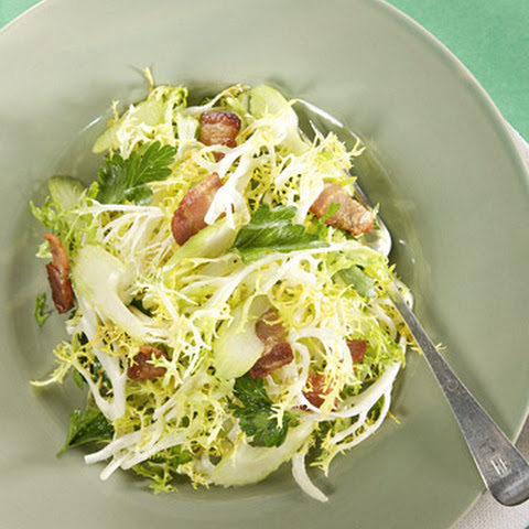 Frisee Salad with Hot Bacon Dressing