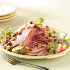 Ham with Apple Raisin Sauce Recipe