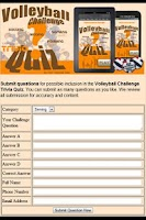 Screenshot of Volleyball Challenge Trivia