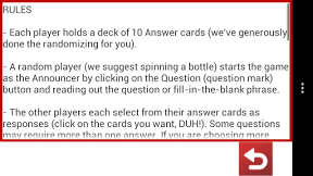 Screenshot of Horrible Cards