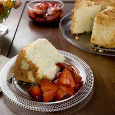 Orange Angel Food Cake with Strawberries Recipe