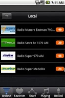 Screenshot of Radio Colombia