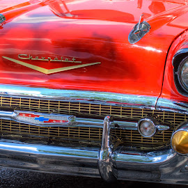 57 Chevy by Victor Sanchez - Transportation Automobiles ( 57, automobile, oldie, checy, hot rod, cherverlet,  )