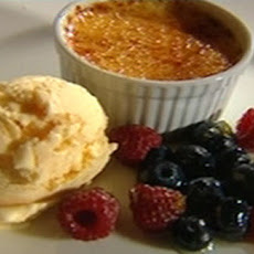 Crème Brulee With Vanilla Bean Ice Cream